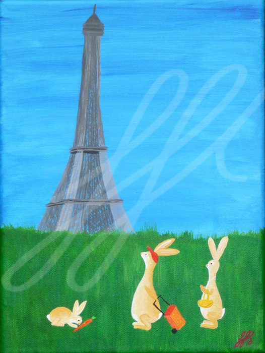 Fam. Hase in Paris 24 x 18 cm