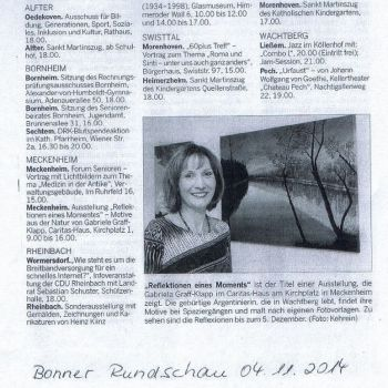 Bonner Rundschau 04.11.2014